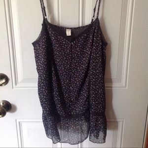 Old Navy spaghetti strap floral tank top